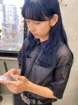 テトヘアー(teto hair)ネイビー ネイビーカラー 青 青髪 暗髪 ブルーブラック ブルー