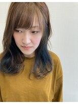 カイノ 三宮店(KAINO)大人可愛いインナーカラーくびれミディアムレイヤー