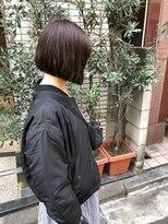 ケンジ 横浜(KENJE)首がキレイにみえる切りっぱなしボブ