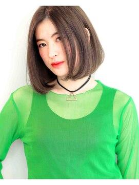ヘアサロン ガリカ 表参道(hair salon Gallica)毛束感 × グレージュ ☆ シンプル Bob スタイル♪