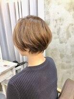 エトネ ヘアーサロン 仙台駅前(eTONe hair salon)30代.40代.50代 丸みショート 大人ボブ
