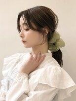 韓国風後れ毛のエギョモリ/ビックシュシュアレンジ!担当中間