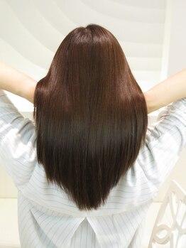 """サロンレライ(SALON RELY)の写真/全MENU""""トリートメントシステム""""付★うるつや髪が気軽に体験できちゃう!ツヤツヤ美髪で毎日を楽しく♪"""