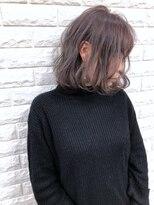ウィル 魚住店(WILL)☆ラベンダーアッシュ×シースルーボブ☆
