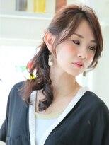 ピノ ウメダ(Pinot UMEDA)大人女子エフォートレス☆ネイビーブラック☆斜めバンクアレンジ