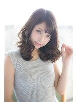 アッシュタカサキ(ash takasaki)20代30代にオススメ ふんわりカールの愛されセミディ