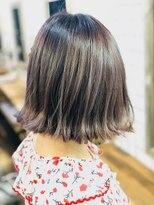 ジェンテ ヘアサプライ(GENTE hair&supply)外ハネシンプルボブ