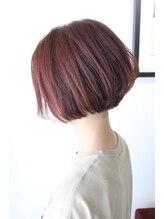 オリガミ ヘアーアンドビューティ 南前川店(ORIGAMI Hair&Beauty)【ORIGAMI】ナチュラルピンク×切りっぱなし ミニボブ