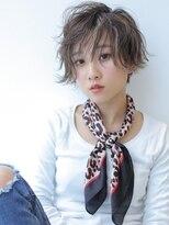 ヘアー ミッション 心斎橋店(hair Mission)小顔ハイライト外ハネウエーブショート 【SE-YA】
