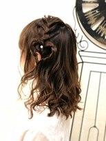 ヘアセットサロン アトリエ チャイ(Hair set salon atelier CHAI)片編みハートアレンジ♪はぁと