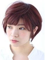 ツヤ髪ピンク系暖色カラー