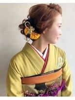 ラトリエコンタン(L´atelier Content)和装×前髪長めのカッコいいアレンジ