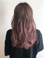 【ベージュ】【グラデーションカラー】【ピンク】