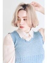 ヘアサロン ガリカ 表参道(hair salon Gallica)ホワイトベージュ ☆ 束感切りっぱなしbob