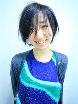 モリオ 池袋店(morio FROM LONDON)【morio池袋】大人かわいいうざバング透け感黒髪ショート♪