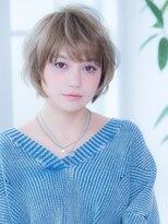 オーブ ヘアー トピア 草薙店(AUBE HAIR topia)ハイライト艶やかショート