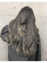アールプラスヘアサロン(ar+ hair salon)デザインカラーバレイヤージュ×シアーベージュ×ロングヘア