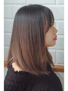 デバイス(de.vise)の写真/気になるクセはしっかり伸ばしながら、自然な丸みでナチュラルな素髪へ♪思わず触れたくなるような髪に☆
