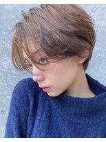 マージュ ギンザ(marju GINZA)ことりベージュ毛先パーマウォーターフォールショート