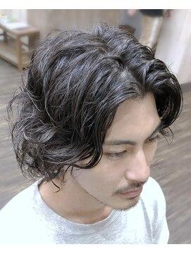 メンズ レオ 天六店(men's LEO)レイヤードロングパーマ