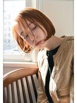 リーピース(Lepes)【Lepes】切りっぱなしショートボブ☆内巻きワンカールパーマ