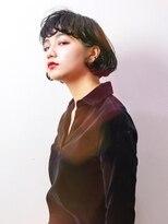 エトネ ヘアーサロン 仙台駅前(eTONe hair salon)【eTONe】クールな黒髪ショートボブ