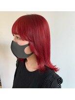 ヘアーアイストゥーレ(HAIR ICI TRE)チェリーレッド 暖色カラー 赤