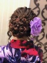 ヘアセットサロン アトリエ チャイ(Hair set salon atelier CHAI)浴衣に合う華やかサイドアップ♪