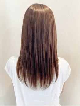 ブランシュ 中島店(Hair&Esthe Blanche)の写真/【中島/女性専用サロン】ツヤ感溢れるBlancheのストレートで毎日のお手入れがもっと楽に♪