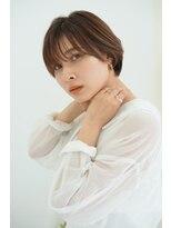 イメチェン前髪×くびれ/マロンベージュ/ニュアンスマッシュ