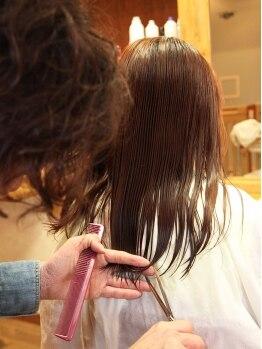 ヘアルーム ハーベスト(hair room HARVEST)の写真/全ての基本!骨格・髪質に合わせるのはもちろん、モチが良く、型崩れしにくいスタイル作りをご提案♪