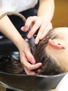 キャノン(CANNON)の写真/天然水ベースのビーワン水を使用☆しっかり頭皮をマッサージすることで目の疲れや肩こりもすっきり!