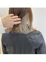 ルーチェ ヘアーデザイン(Luce.hair.design)インナーカラー×ホワイトベージュ
