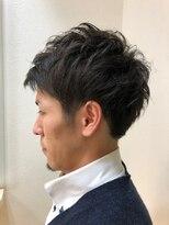アルファ ヘアー デザイン(alpha hair design)ビジネス ショート ツーブロック アップバング