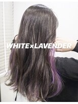 ホワイト×ラベンダー