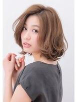 ボヌール 西梅田店(Bonheur)【女性stylist杉崎】3Dカラーで立体感☆シンプルな大人ロブ