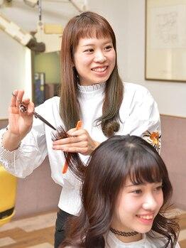 ファン(FAN)の写真/特許技術フレンチグラン☆カットだけで毛量が多い・硬い・クセ毛のお悩み解決!縮毛矯正や髪質改善TRも有◎