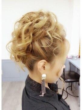 結婚式の髪型(ヘアアレンジ)  ツイストルーズモヒカン