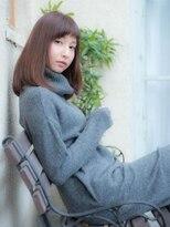 オーブ ヘアー ニア 御茶ノ水店(AUBE HAIR nia)シルエット美人なセミディで上品な可愛さをプラス