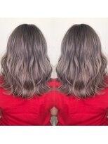 ヘアアンドビューティー クローバー(Hair&Beauty Clover)white lavender gray