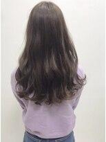カイノ 三宮店(KAINO)柔らか透明感カラー ラベンダーベージュ×ロング巻き髪