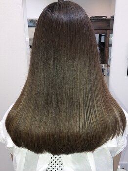 フラップ(FLAP Hair Design)の写真/髪のお悩みを解決◆髪質・クセに合わせた施術が◎スタイリングしやすいナチュラルストレートに♪《FLAP》