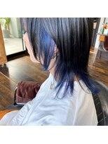 【ウルフヘア♪】インナーブルーカラー♪