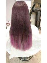 ヘアーバンブー(Hair Banbu)原色グラデーション(ピンク)