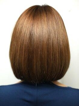 ヘアー ルストレ(Hair Lustre)の写真/クセを伸ばしながら毛流れ、形を作っていくナチュラルストレート♪自然なフォルムと抜群の手触りに感動☆