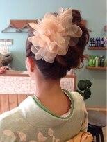 着物に合うヘアセットスタイル