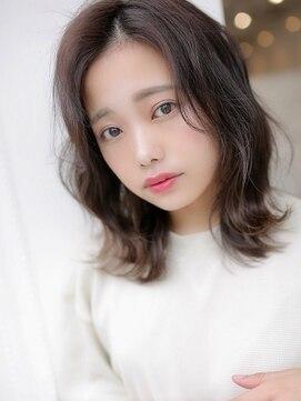 アグ ヘアー ライム 姶良店(Agu hair lime)目線を外ハネへ→小顔ミディ
