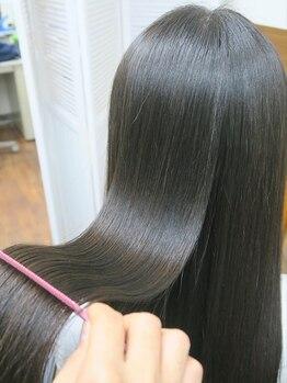 ウフヘアー(ufu hair)の写真/自然にまっすぐは当たり前。 ufu hair は髪質改善コースで手触り・ダメージレスにこだわります。