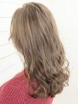 オーブ ヘアー エラ 赤江店(AUBE HAIR era)【AUBE HAIR】ライトクリアベージュ_フリンジセミロング