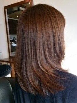 ヘアールーチェの写真/ずっとキレイでいたい大人女性にオススメ。気になり始めた白髪も変化してきた髪質にもしっかり対応。